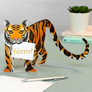 'Tyger' 3D Greetings Card