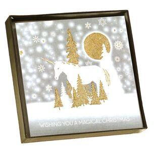 'Magical Christmas' Unicorn Scene - Box of 6 Christmas Cards