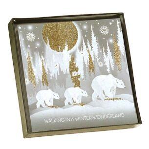 'Winter Wonderland' Polar Bears Scene - Box of 6 Christmas Cards