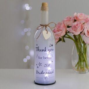 Bridesmaid Thank You White Light Up LED Bottle