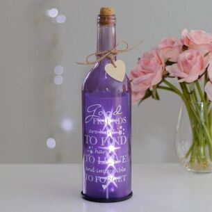 Good friends are hard to find Purple Light Up LED Bottle