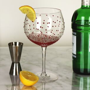 'Red Dots' Gin Balloon