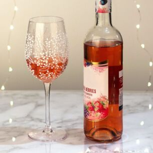 'Glitter Leaf' Wine Glass