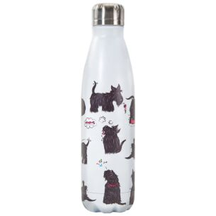 Eco Chic White Scatty Scotty Dogs 500ml Thermal Drinks Bottle