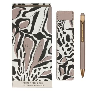 PENCHI Giraffe Print Printed Touch Pen And Pouch