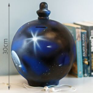 Extra Large Blue Galaxy Money Pot