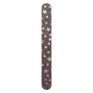 Rainbow Glitter Stars Nail File
