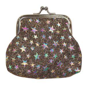 Rainbow Glitter Stars Purse