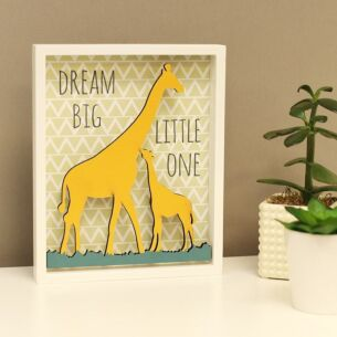 'Dream Big Little One' Giraffe Wooden Sign