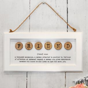 'Friend' Framed Wooden Sign