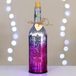 Temptation Pink & Silver LED Firefly Bottle