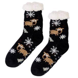 Temptation Black Sherpa Lined Socks