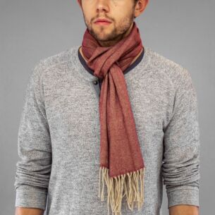 Red Striped Boxed Men's Scarf