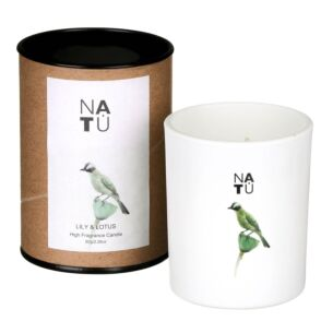 NATU Lily & Lotus Fragranced Candle