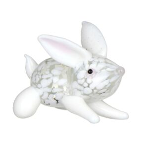 Glass White Bunny