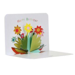 Flowers Happy Birthday 3D Card