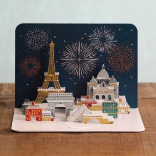 Celebrations Over Paris 3D Card