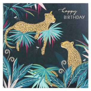 Leopards Birthday Card