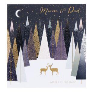 Mum & Dad Deer Forest Christmas Card