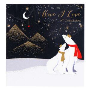 One I Love Polar Bears Christmas Card