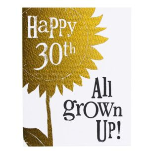 The Bright Side 'Happy 30th All Grown Up' Birthday Card