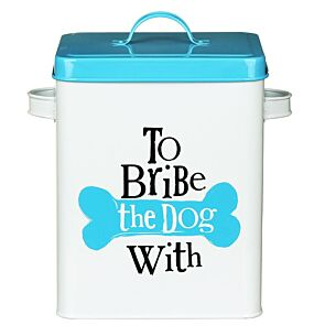 "The Bright Side ""To Bribe"" Dog Treats Tin"