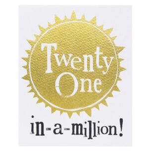 Twenty One In-A-Million! Card