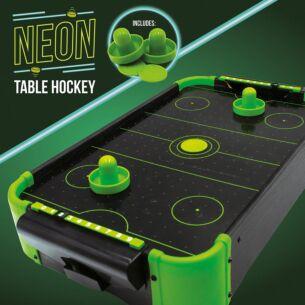 Neon Tabletop Air Hockey Game