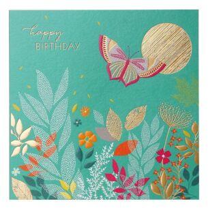 Sara Miller Sunshine Butterfly Birthday Card