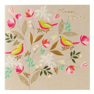 Birds in Branches Birthday Card