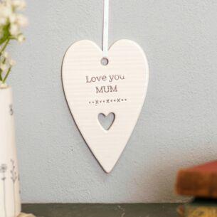Evie 'Love You Mum' Ceramic Heart