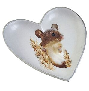 Field Mouse Heart-Shaped Dish