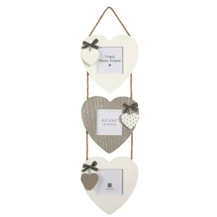 Aria Triple Heart Hanging Photo Frame