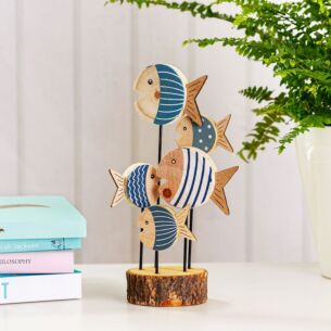 Shoal of Fish Wooden Decoration