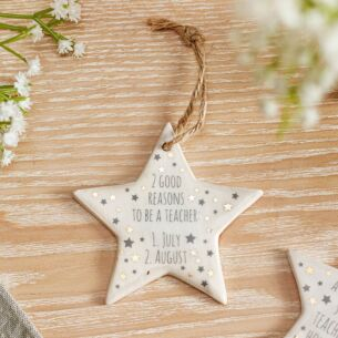 'Reasons To Be A Teacher' Ceramic Star Decoration