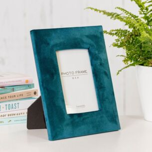 Deep Teal Velvet 6x4 Photo Frame