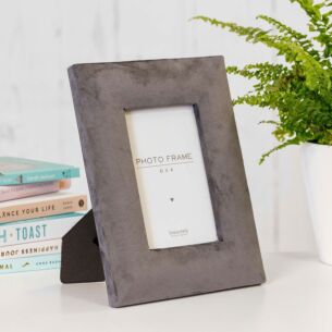 Charcoal Grey Velvet 6x4 Photo Frame