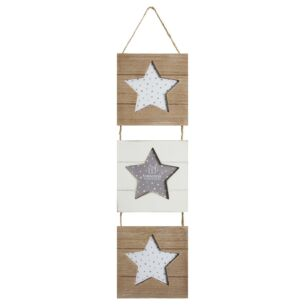 Triple Hanging Star Photo Frame