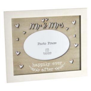 'Mr & Mrs' Wedding Freestanding Photo Frame 6x4
