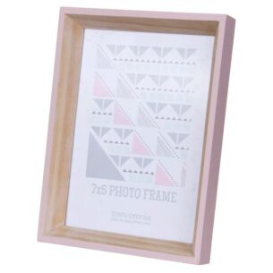 Helsingborg 7x5 Wooden Painted Pink Photo Frame