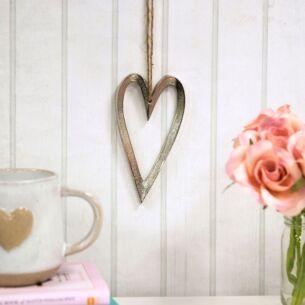 Rampur Long Metal Heart Hanging Decoration
