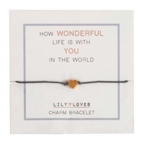 Lily Loves 'How Wonderful Life Is' Charm Bracelet