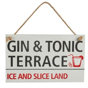Gin & Tonic Terrace Sign