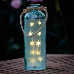 Giant LED Stars in a Blue Bottle