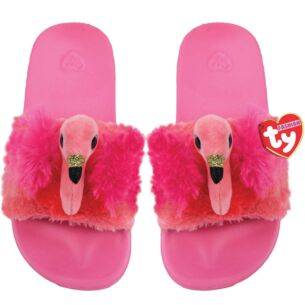 Gilda Pink Beanie Boo Medium Slides