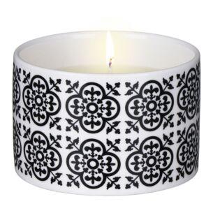 Black Tea & Jasmine Medium Ceramic Candle