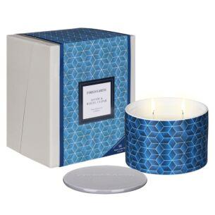 Assam & White Cedar Large Ceramic Candle in Gift Box