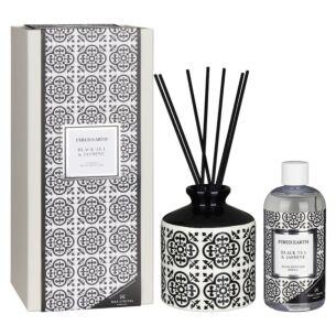 Black Tea & Jasmine Ceramic Reed Diffuser in Gift Box