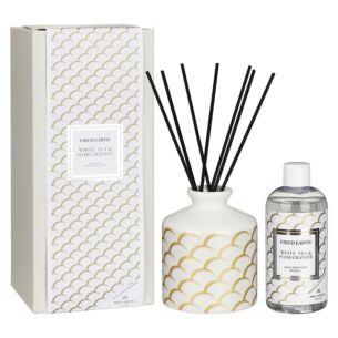White Tea & Pomegranate Ceramic Reed Diffuser in Gift Box