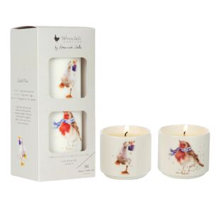 Wonderland Mini Set of 2 Ceramic Candles
